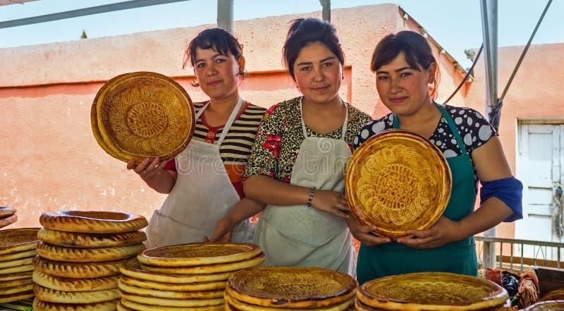 Продавцы хлеба стоковые изображения rf