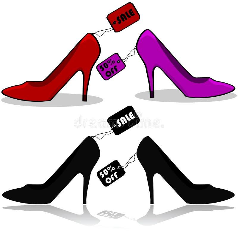 Продажа ботинка иллюстрация вектора