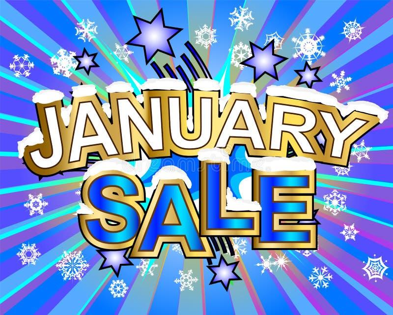 Продажа в январе бесплатная иллюстрация