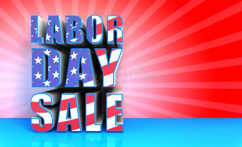 Продажа Дня Трудаа иллюстрация вектора
