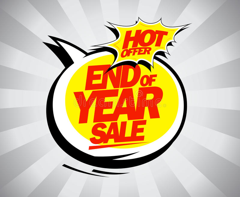 Продажа конца года, горячий дизайн шипучк-искусства предложения иллюстрация штока