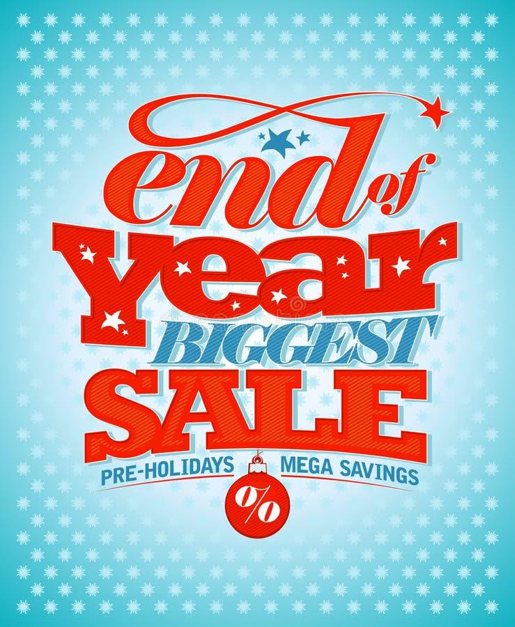Продажа пре-праздников конца года бесплатная иллюстрация
