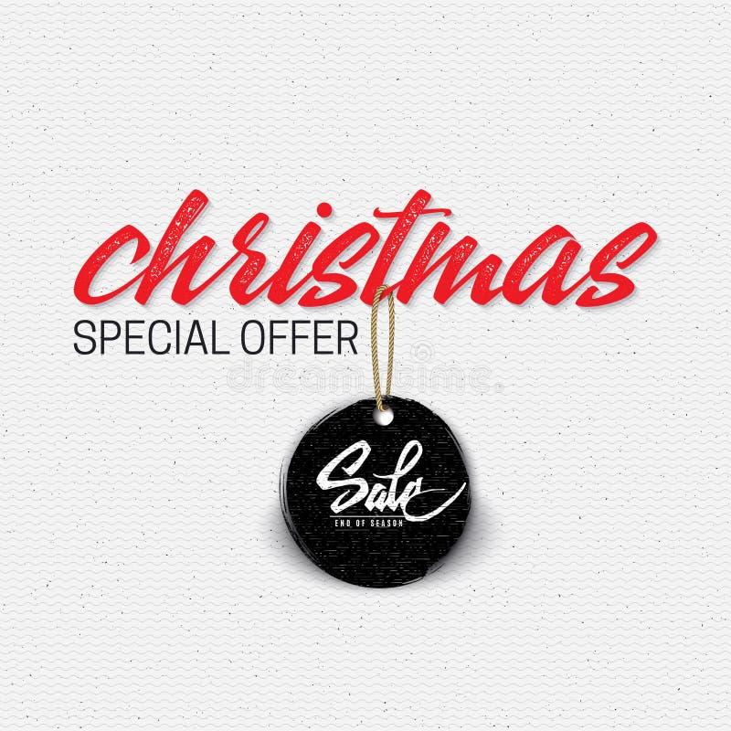 Продажа рождества, маркирует с небольшими средствами иллюстрация штока