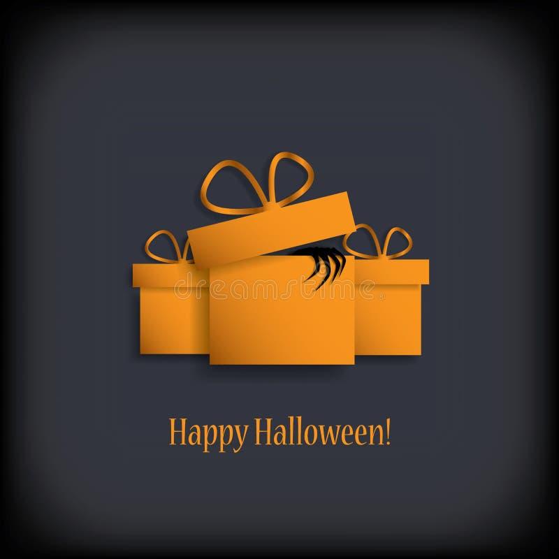Продажи приглашение или подарочный сертификат хеллоуина EPS10 иллюстрация штока