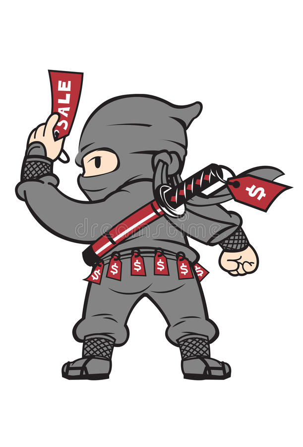 Продажи Ninja стоковые фотографии rf