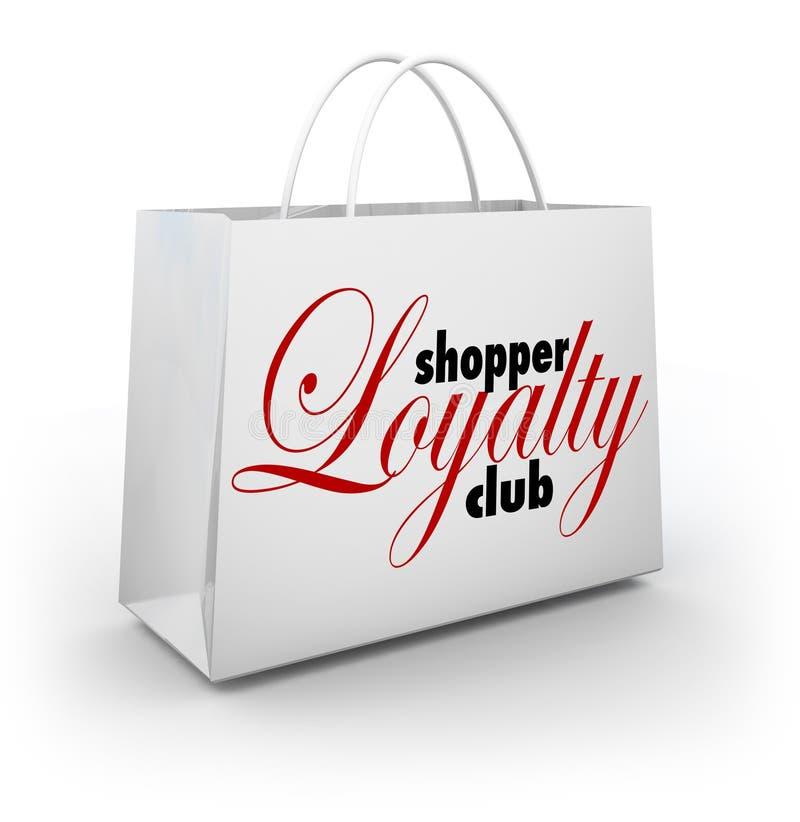 Продвижение хозяйственной сумки клуба преданности покупателя награждает программу иллюстрация штока