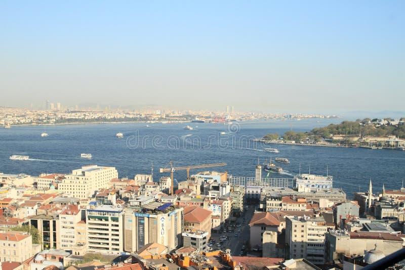 Пролив Босфора в Стамбуле стоковое фото
