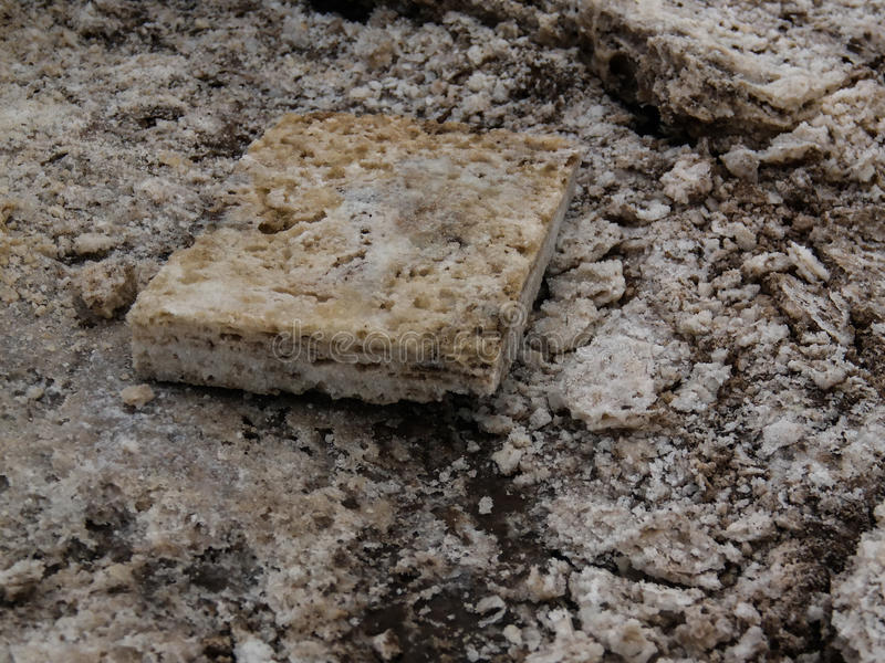 Продукция соли на озере Karum, Danakil Afar, Эфиопия стоковые фото
