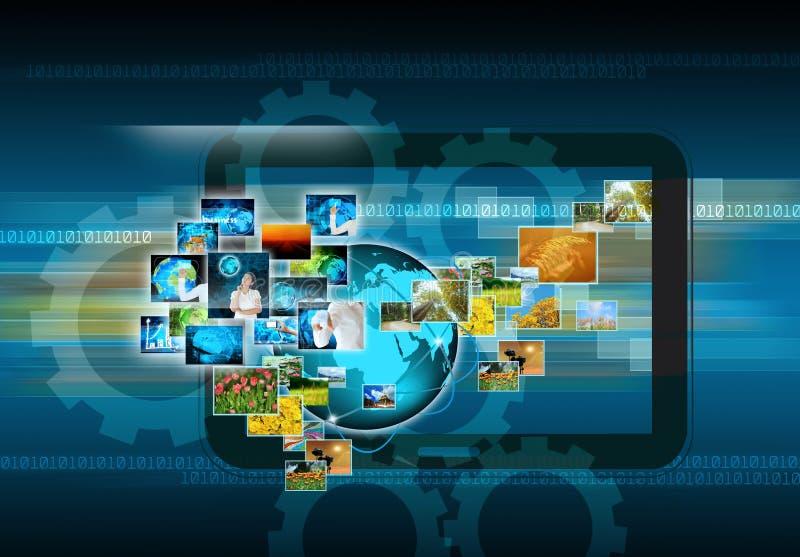 Продукция телевидения и интернета иллюстрация штока