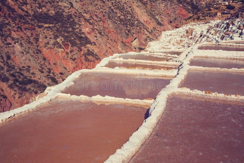Пруды соли стоковое изображение