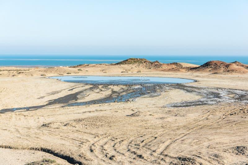 Пруд грязи Salse в Gobustan, Азербайджане стоковое фото