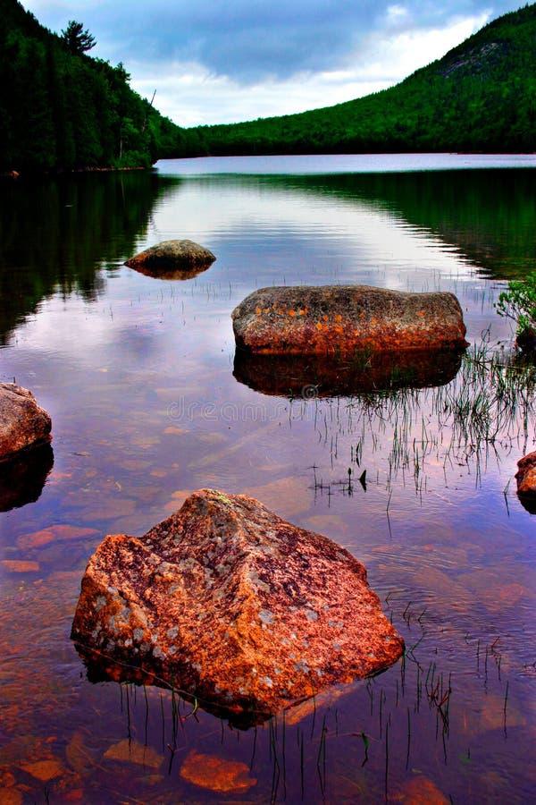 пруд национального парка Иордана acadia стоковые фотографии rf