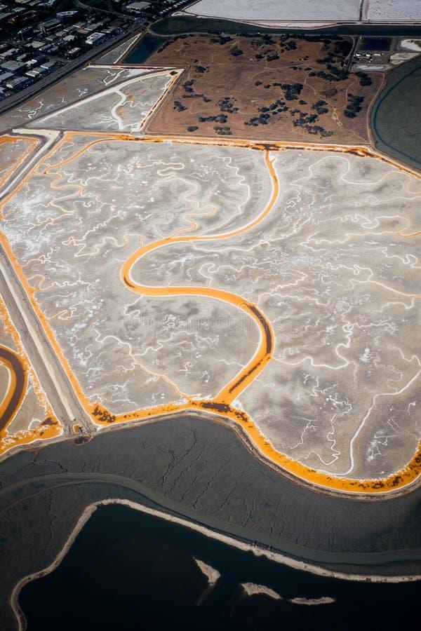 Пруд соли в Sunnyvale стоковое изображение