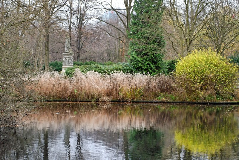 пруд berlin tiergarten стоковое изображение rf