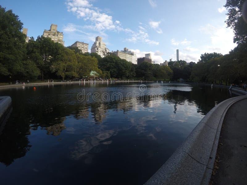 Пруд Central Park в NYC стоковое изображение
