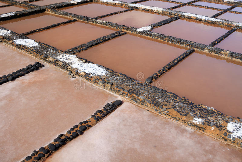 пруды для продукции соли моря стоковые фотографии rf