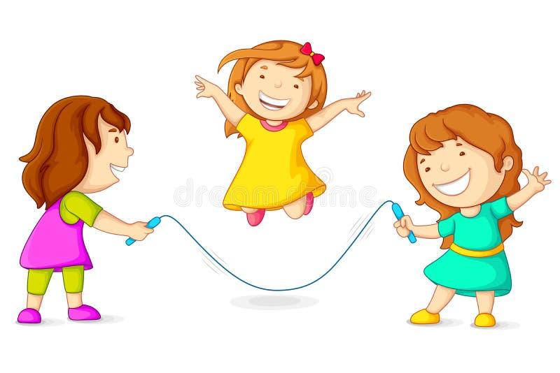 Прыгать девушок иллюстрация вектора