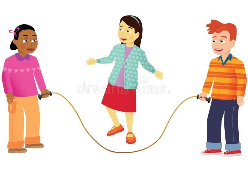 Прыгать детей иллюстрация вектора