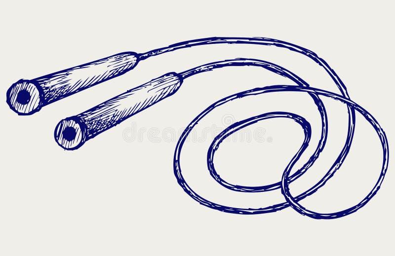 Прыгая веревочка бесплатная иллюстрация