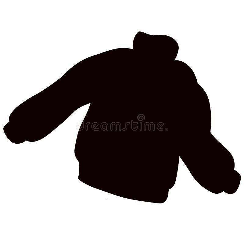 Прыгун свитера силуэта Шаблон ткани случайной одежды бесплатная иллюстрация
