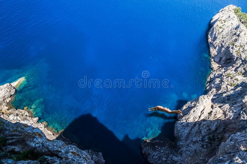 Прыгун скалы Мальорка стоковые изображения rf