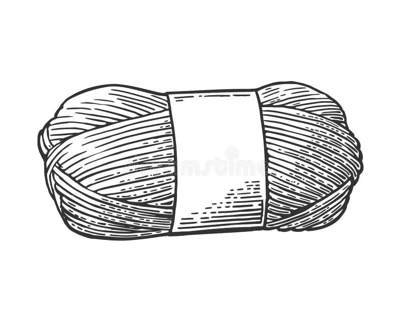 Download Пряжа крена с шерстяным потоком для вязать Винтажная иллюстрация гравировки Иллюстрация вектора - иллюстрации насчитывающей традиционно, шить: 81803626