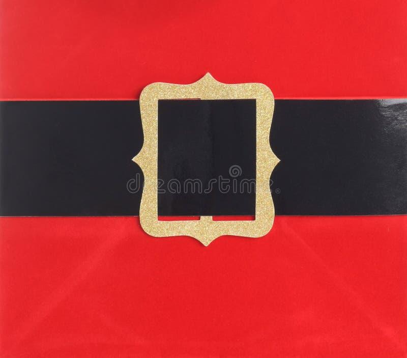 пряжка пояса santa стоковая фотография rf
