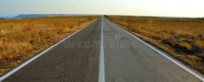 Прямая дорога Стоковые Фотографии RF