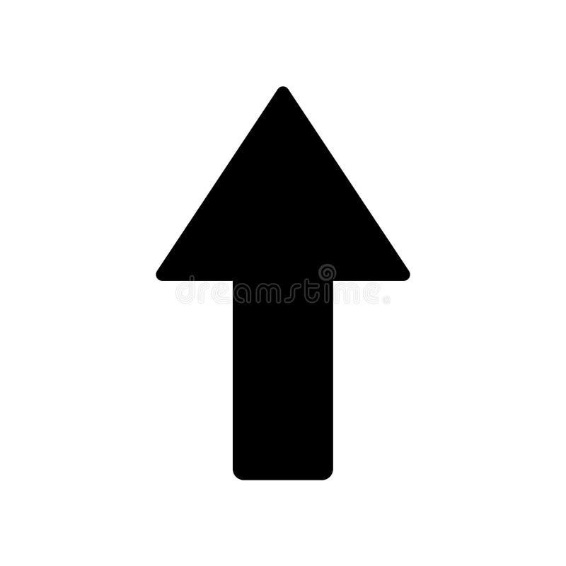 Прямой значок Ультрамодная прямая концепция логотипа на белой предпосылке бесплатная иллюстрация
