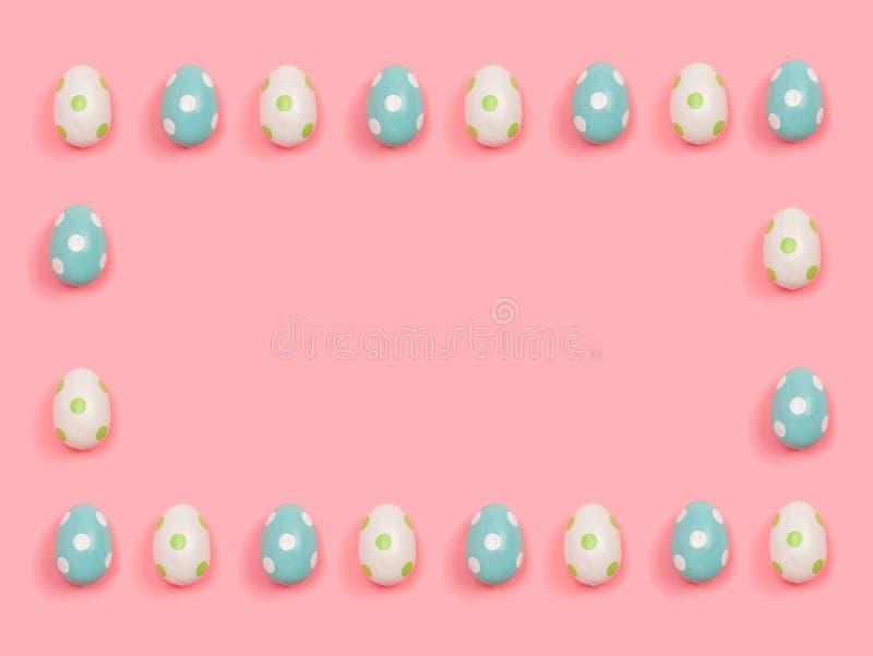 Прямоугольная рамка пасхальных яя иллюстрация вектора
