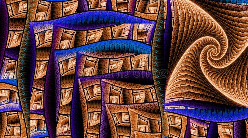 Прямоугольники картины защитная стена иллюстрация вектора