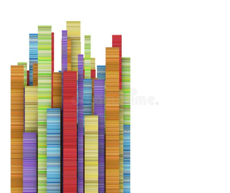Прямоугольная форма нашивки в varied цвете радуги иллюстрация штока