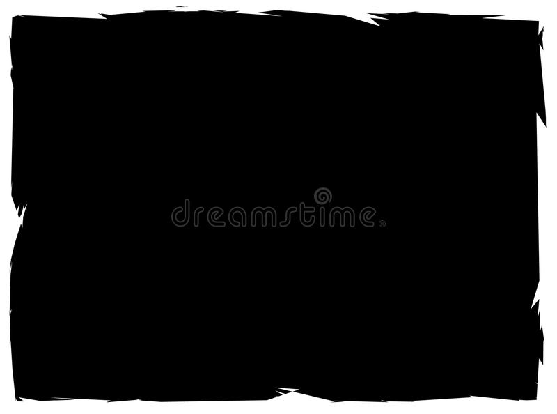 Прямоугольная grungy рамка, grungy граница с покрашенным влиянием иллюстрация вектора