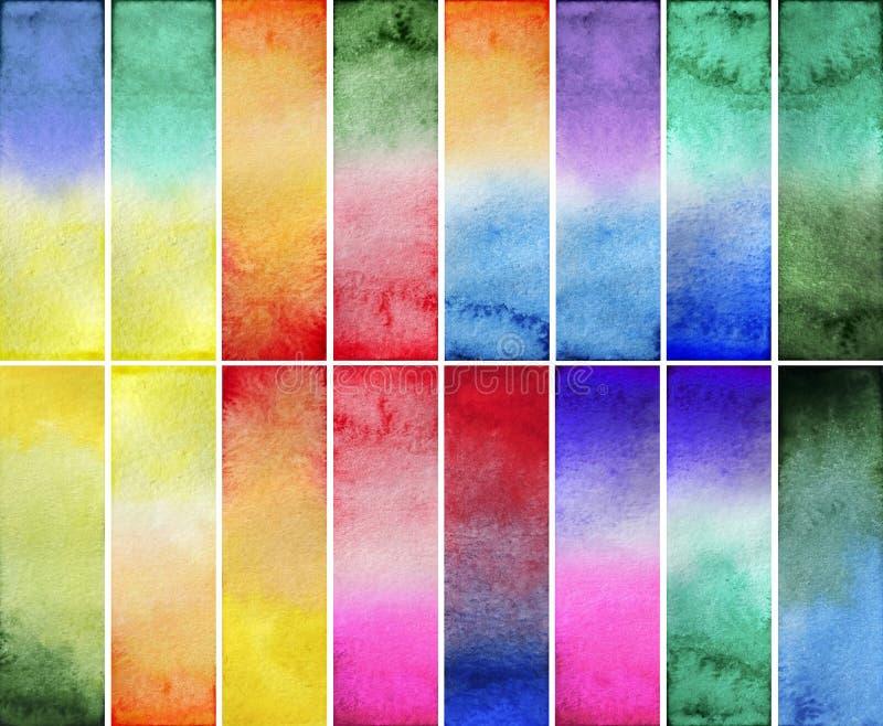 Прямоугольники градиента акварели стоковые изображения rf