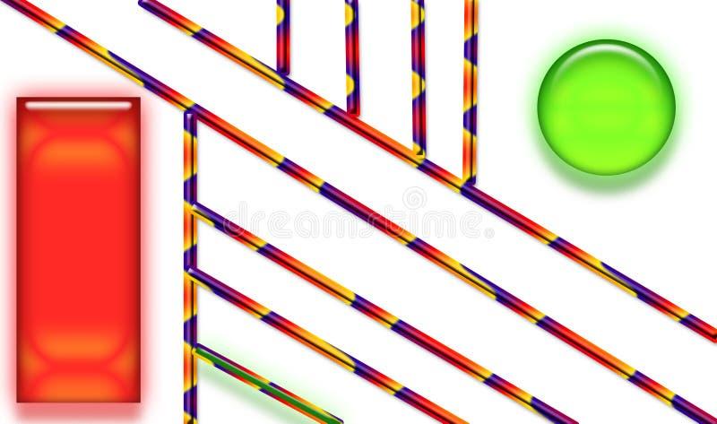 Прямоугольник круга знамени квадратный иллюстрация вектора