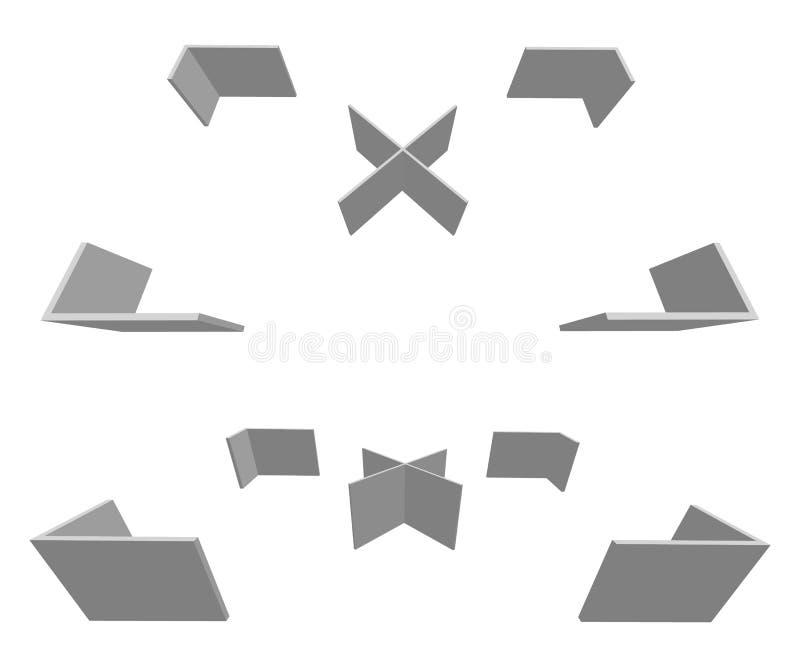 Download Прямоугольное перекрестие, метка цели с крестом на середине Иллюстрация вектора - иллюстрации насчитывающей вооружения, иллюстрация: 81811716