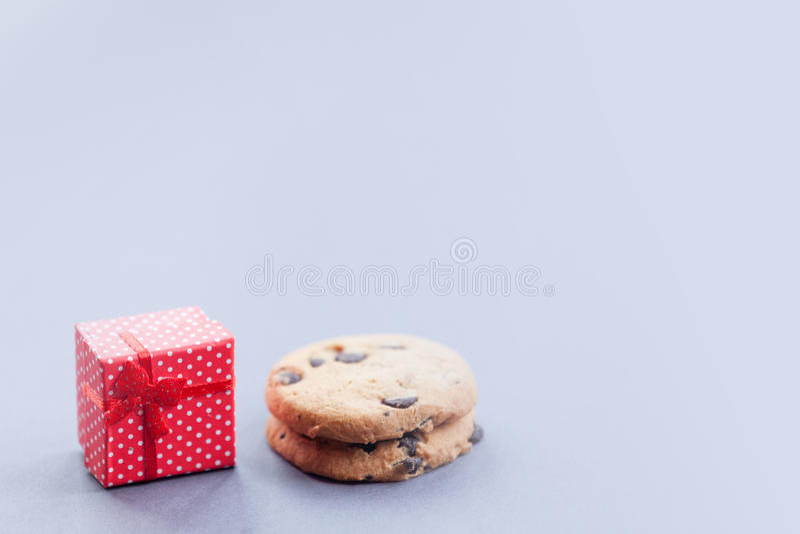 Пряник печенья подарочной коробки и шоколада стоковые изображения