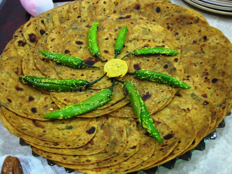 Пряный индийский хлеб стоковые фото