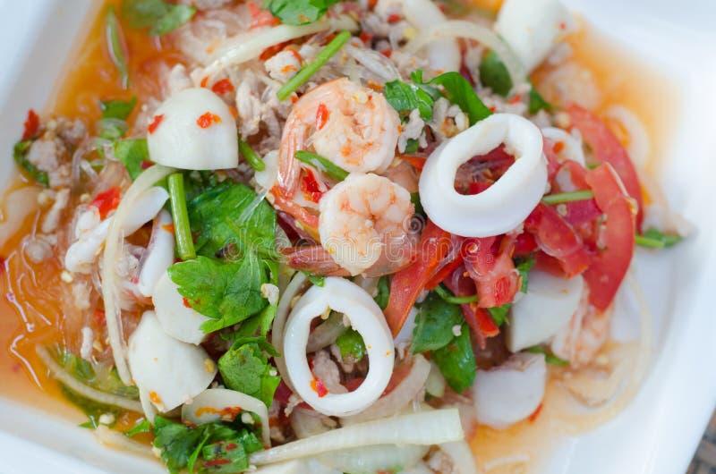 Пряный салат вермишели стоковая фотография