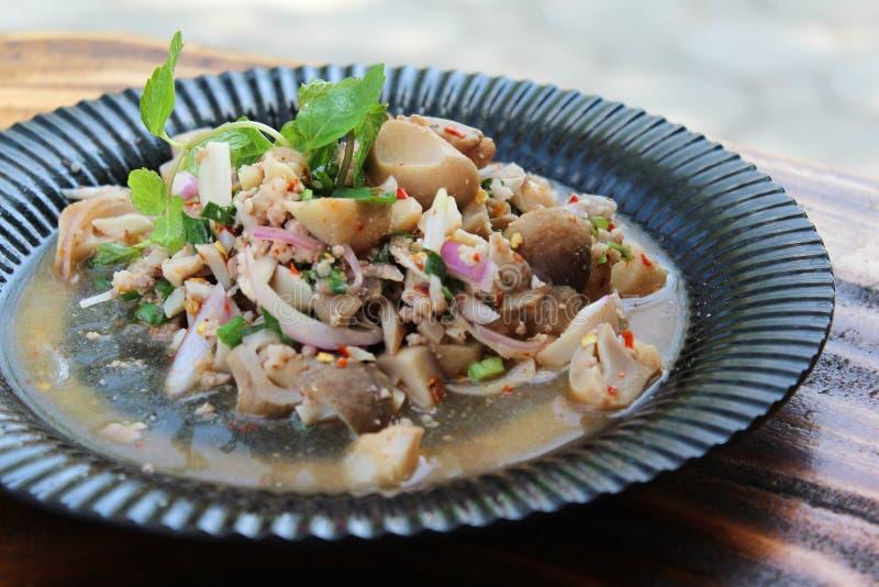 Пряный салат гриба стоковая фотография