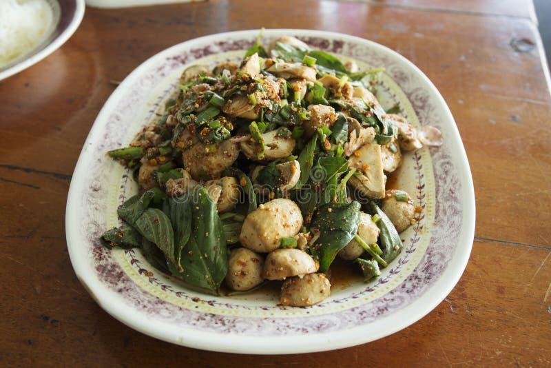 Пряный салат гриба стоковое изображение