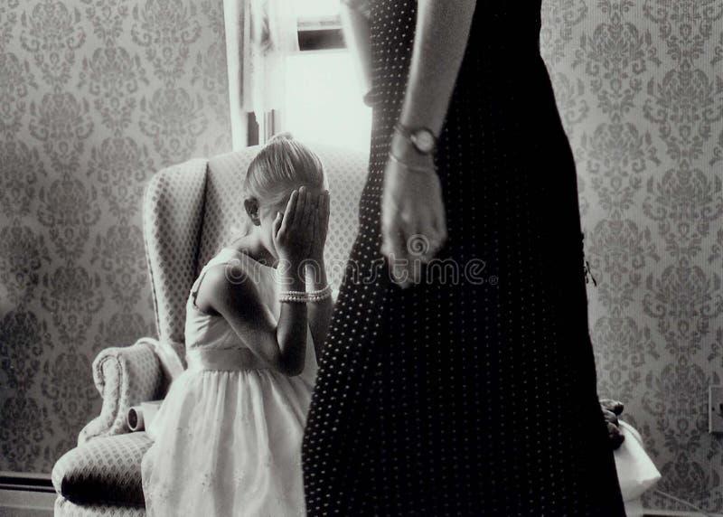 прятать девушки Стоковое фото RF