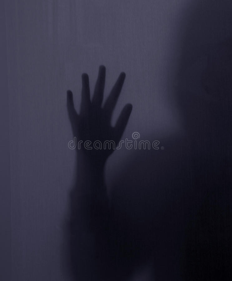 Прятать женского силуэта, руки, пальцы стоковое изображение