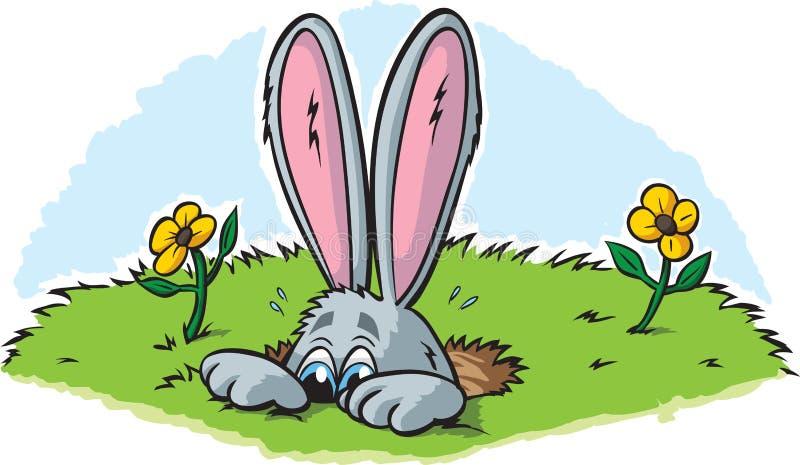 Пряча кролик бесплатная иллюстрация