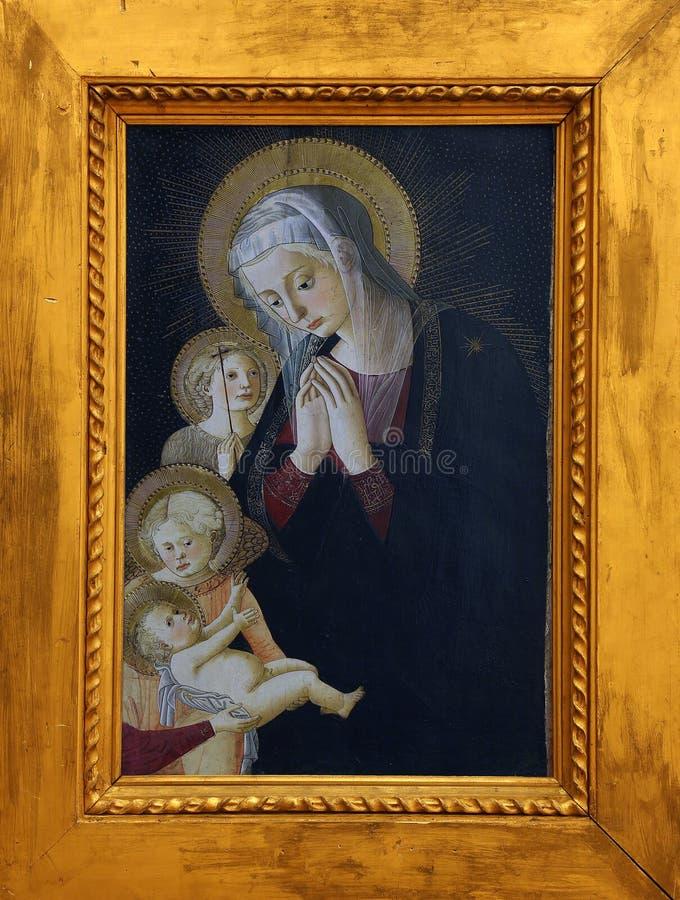 Псевдо пристань Francesco Fiorentino: Богоматерь с младенцем, St. John и ангела стоковое изображение