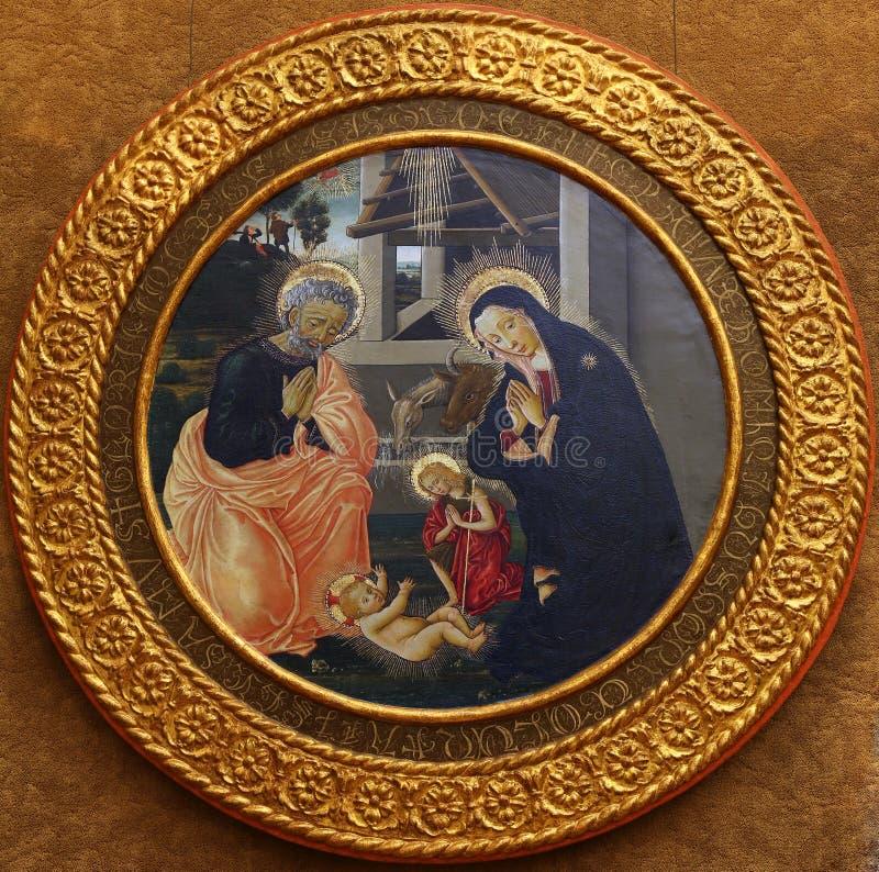 Псевдо пристань Francesco Fiorentino: Рождение Иисуса стоковые фотографии rf