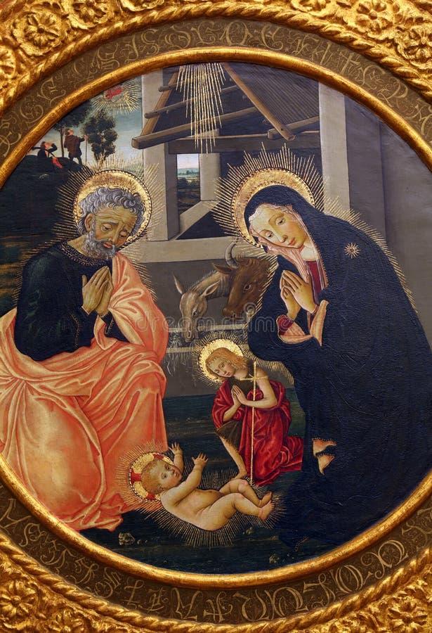 Псевдо пристань Francesco Fiorentino: Рождение Иисуса стоковое изображение