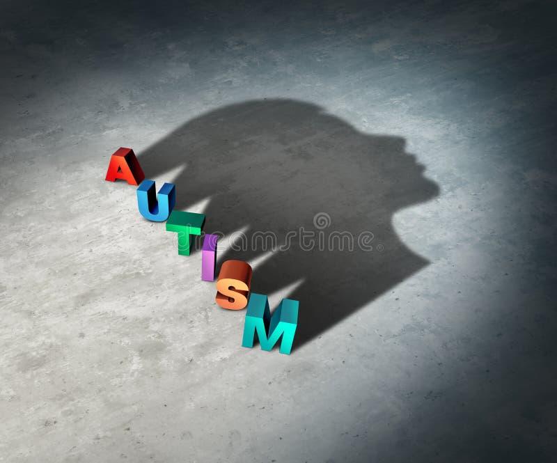 Психические здоровья аутизма иллюстрация штока