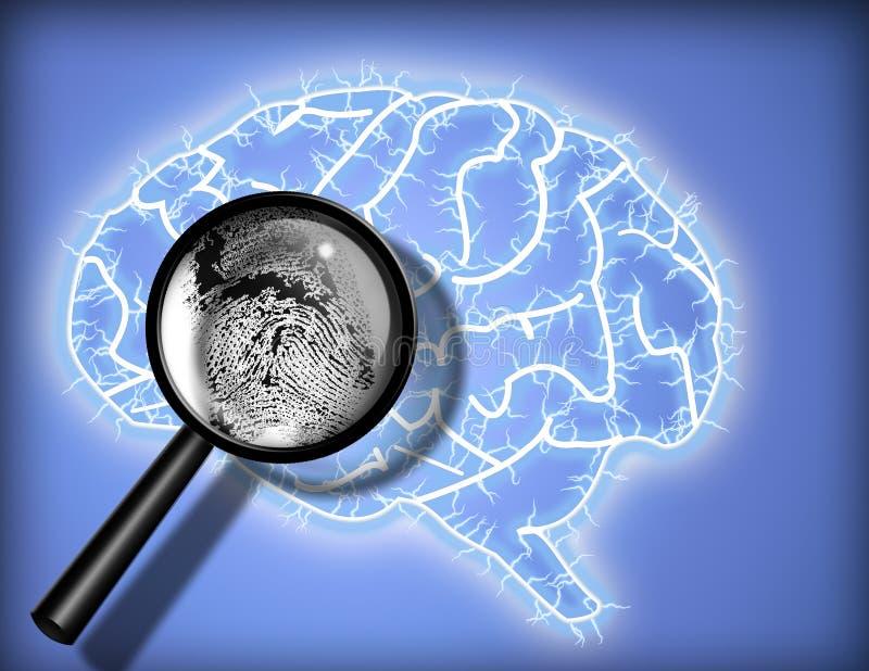 психоанализ тождественности фингерпринта мозга иллюстрация вектора