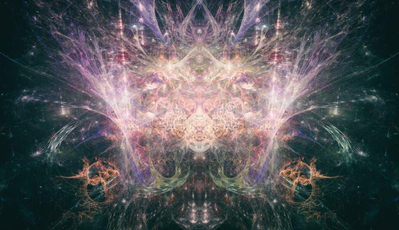 Психоделическая концепция PsyTrance искусства фрактали стоковое фото